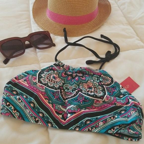 Xhilaration Other - Colorful mandala design bikini top